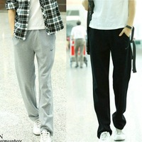 Free Shipping,2013 New Men Casual Sports Pants Loose Male Trousers Brand Pants,Black & Gray,Plus size M-XXXXL