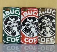 10pcs/lot Retro Vintage Starbucks Hard Plastic Phone Cases For Iphone 5 5S 4 4S Cellphone Cover Housing