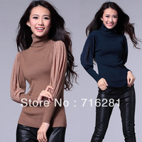 New Arrival! autumn&winter fashion sexy women's slim turtleneck long sweater,full sleeve thickening warm knitwear,free shipping