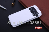 For Galaxy S4 I9500 9500 Original S View Window Flip Leather Back Cover Case Dormancy Function Battery Housing Case