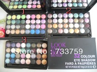 HOT Professional Makeup Eyeshadow Look 32 color eye shadow plate 64 g 3 colors 3pcs/lot