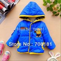 Winter Children's Clothing  Baby girls thick Outerwear Coats Parkas cashmere Cartoon coat  Hoodies Jackets coats  3pcs/lot