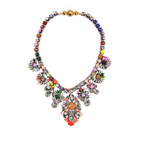 NEW colorful braid crystal shourouk necklaces vintage perfect designs copper button statement necklace jewelry Free Shipping