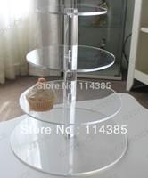 4 tier round maypole acrylic cupcake stand, 4 tier round perspex wedding cake stand, 4 tier round plexiglass cupcake stand