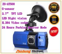 new 2013 Newest 100% Original Full hd 1920x1080 car dvr AT500 Novatek 96650 Camera brushed metal panel !Night Vision car dvrs