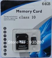 wholesale price SD Card 64GB class 10 SD Memory Card TF SD card 64G with retail packaging adapter free shipping