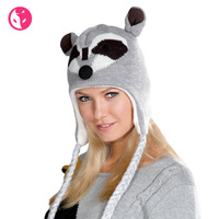 Free Shipping Fox unisex winter knitted hat fox thermal protector ear style cap knitted hat 1423