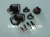 Free ship 1set Moto LED Work Spot Light 20W 3000 Lumen 4*Cree XML T6 4T6 LED Motorcycle Driving Light 12V-16VDC