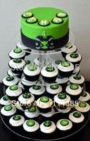 4 tier  acrylic cupcake stand, acrylic wedding & party cake stand, perspex wedding cupcake stand