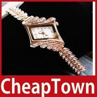 [CheapTown] Fashion Rose Gold Ladies Rhinestone Diamond Waterproof Luxury Watch Save up to 50%