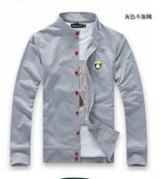 New high quality men's hoodies cardigan casual Standing collar thin shirt coat