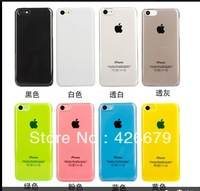 Free Ship Wholesale 1000pcs/lot For iPhone 5c Crystal Shell Plastic Protective Clear Cover For 5c