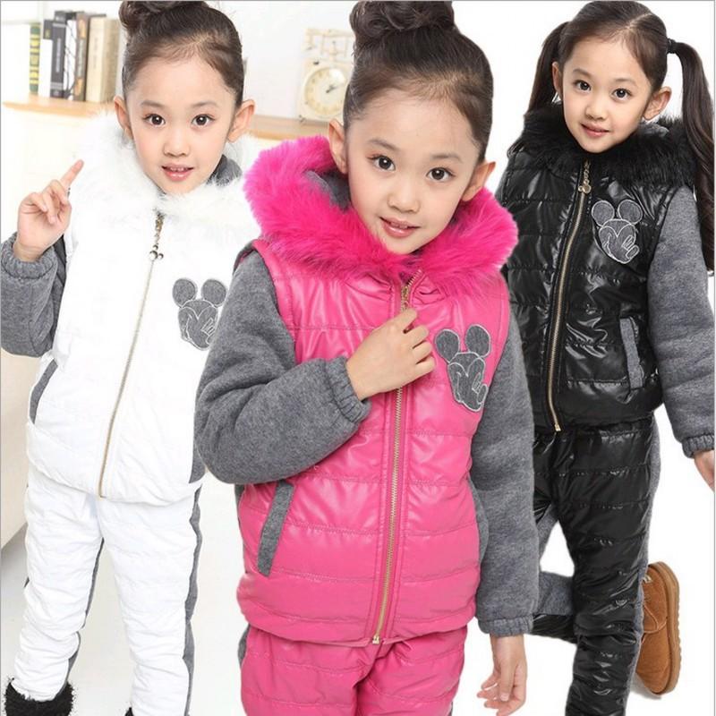 New 2014 Winter Girls Clothing Sets, Ski Suit Set, Sport Suit, Girls Tracksuit set, Children Girl Winter Suit(China (Mainland))