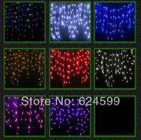 220V EU/UK Plug 224 LED 5M curtain icicle string lights Christmas Garden lamps Icicle Lights Xmas Wedding Party Decorations
