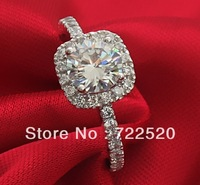 Luxury Wai sona diamond ring 1 karat diamond ring mark PT950 made Ms. Diamond 18K Jin Mosang