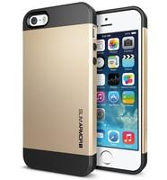 DHL free shipping champagne gold slim armor spigen sgp neo hybrid Hard For iPhone 5 ,5S 50 pcs/lot