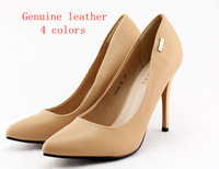 Genuine leather,free shipping,2014 newest Pointed toe OL women high heels pumps,lady shoes club.euro35-40