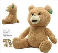 HOT 60cm Teddy Bear Ted Plush Dolls Man's Ted Bear Stuffed Plush Toys Birthday/Christmas Gift Free Shipping In Stock