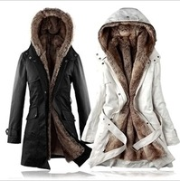 HOT Thickening coat winter outerwear women's trench medium-long thermal thickening wadded jacket overcoat outerwear