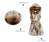 Rabbit fur medium-long 2013 vest rabbit fur waistcoat female fur vest fox outerwear