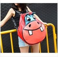 cute animal printing backpack,girl pu leather fashion school bag,ourdoor travel sport bag,casual shoulder bag for women/438
