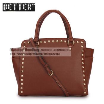 Brand Women PU Handbags New 2013 Bag Michaeled Women Messenger Bags Fashion Purses Solid Wallets Bolsas Totes FREE SHIPPING