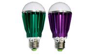 Free Shipping 56pcs/lot 8W LED Bubble Bulb Lamp E27 B22 E26 Foot 60mm Diameter 120mm Height Green Purple Aluminum Heatsink