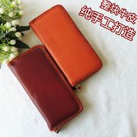 Genuine leather wallet women's handmade design cowhide long wallet day clutch coin purse storage bag