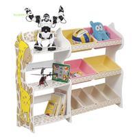 Lovely Giraffe Toy storage rack toy storage cabinet and  box