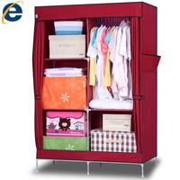 Folding wardrobe combination of simple wardrobe steel pipe wardrobe