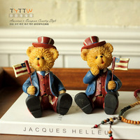 American style senior resin bear decoration home accessories home decoration