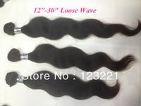 Loose Wave 3pcs/lot hair extensions 100% human hair virgin brazilian hair weaves natural black hair DHL free shipping 95-100g/pc