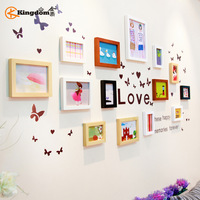 Jiding 14 box solid wood wall thickening photos photo frame photo wall combination living photo