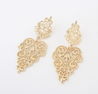 (Min order$8) Free shipping!Wholesale 2013 New Fashion Jewelry Bohemia all-match Pierced Sexy Earrings ,Silver/Gold 2 Colours