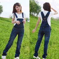 Denim bib pants female 2013 plus size casual suspenders trousers jumpsuit