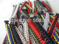 500pcs Ourdoor Survival Bracelets Plastic Buckle Escape 7-core Paracord Bracelets For Camping Life-saving Bracelet new