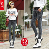 Pants female jeans pencil pants slim long trousers
