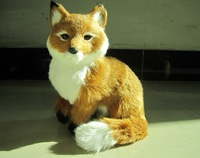 Artificial fox artificial animal home decoration crafts birthday gift plush toy