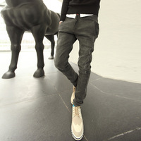 Trend boboy pants male harem pants low-rise jeans pants tapered type
