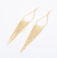 (Min order$8) !Wholesale 2013 New fashion jewellery retro star personality tassel metal Earrings Earrings for women bijoux