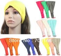 women cotton hair band, lady wide elastic hair bandanas,girls fashion Hair Accessories,can choose color,CPAM free shipping