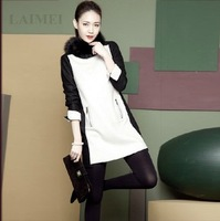 Vero2013 autumn and winter of seashells woolen slim hip one-piece dress