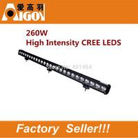 260W 6000k 26000lm spot flood beam 43ich CREE12 Volt LED Lights for Boat/Trains/Forklift/Bus and Tanks