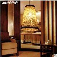 T8 lamps bedroom living room study plant hemp material Restaurant hallway chandelier 25