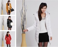 Free shipping sale 2013 women down wear women's cotton long PU leather women's cotton-padded jacket
