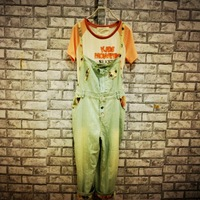 Sweet patchwork bib denim capris pants harem pants female autumn