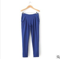 Autumn and winter women fashion formal pleated slim casual pants plus size pants harem pants