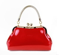 New 2013 Women Brands Handbag Designer Brand Celebrity Style High Quality  Patent Leather Bride Purse