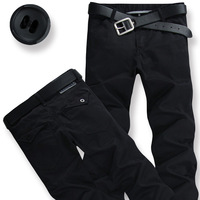 Plus size autumn 2013 hot-selling men's casual long trousers casual loose pants black