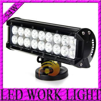 FREE DHL SHIPPING 2PCS 9INCH 54W CREE LED LIGHT BAR FLOOD FOR OFF ROAD LED BAR IP67 4WD ATV UTV 4x4 SUV LED WORK LIGHT BAR 12V